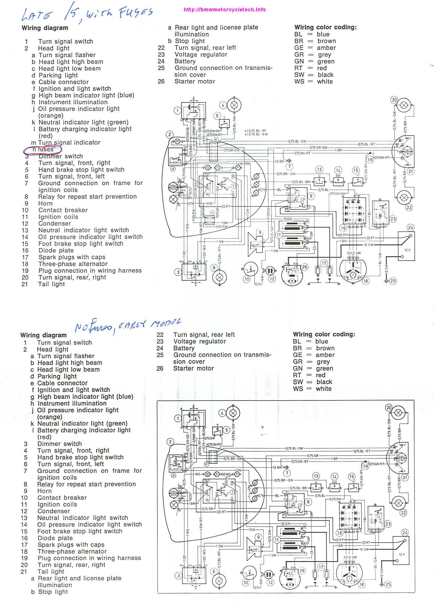 Snowbum Bmw Motorcycle Technical Articles Maintenance Snobum Sub Zero Ice Maker Wiring Diagram Schematic Diagrams For Both Early And Late 5 Model Had No Fuses Set Your Browser To Expand The Image As Needed It Will Be Cleanly Displayed