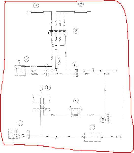image002 bmw airhead motorcycle miscellaneous electrical systems bmw r100rs gauge wiring diagram at n-0.co
